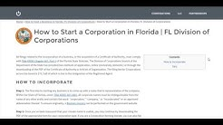 How to Start a Corporation in Florida | FL Division of Corporations