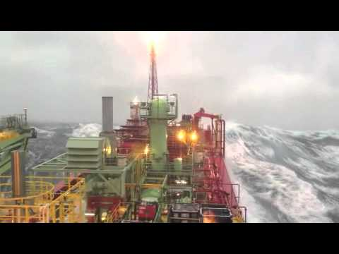 FPSO BW Athena - Huge high sea storm