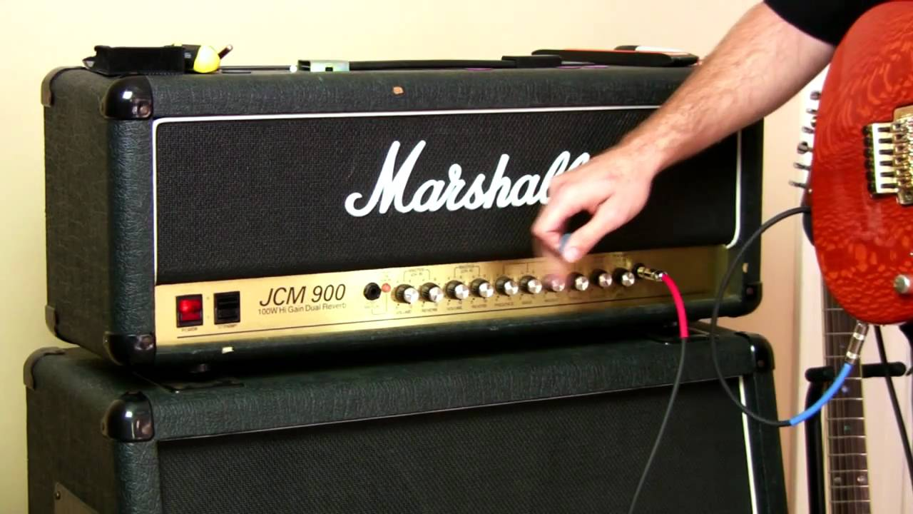 guitar amp setup for marshall tube amp youtube. Black Bedroom Furniture Sets. Home Design Ideas