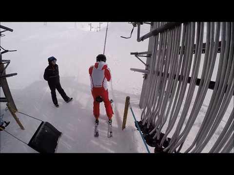 Risalita integrale skilift Bellecombe 1, La Rosiere (Francia)