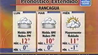 Pronostico Local Santiago de Chile The Weather Channel Latinoamèrica (Agosto 2000)