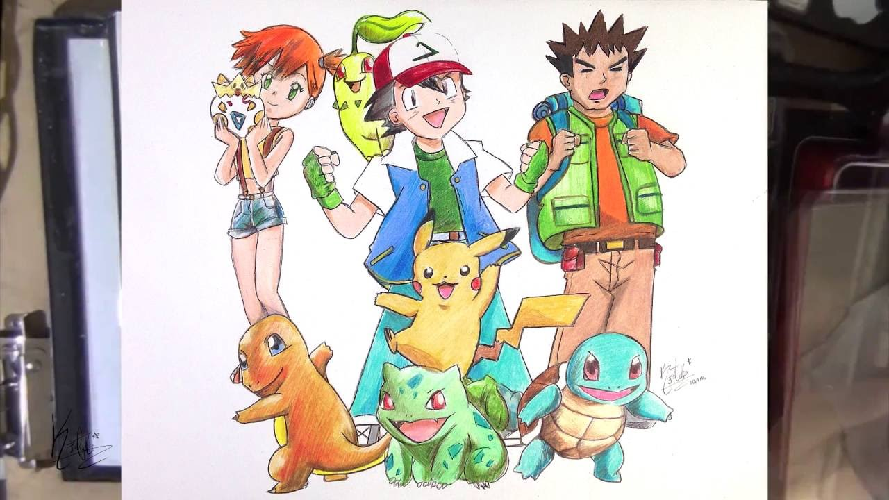 Drawingcolor Pokemon Indigo League Speed Drawing Color Pencils Youtube