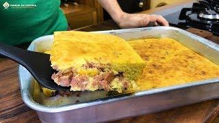TORTA DE MANDIOCA COM CALABRESA