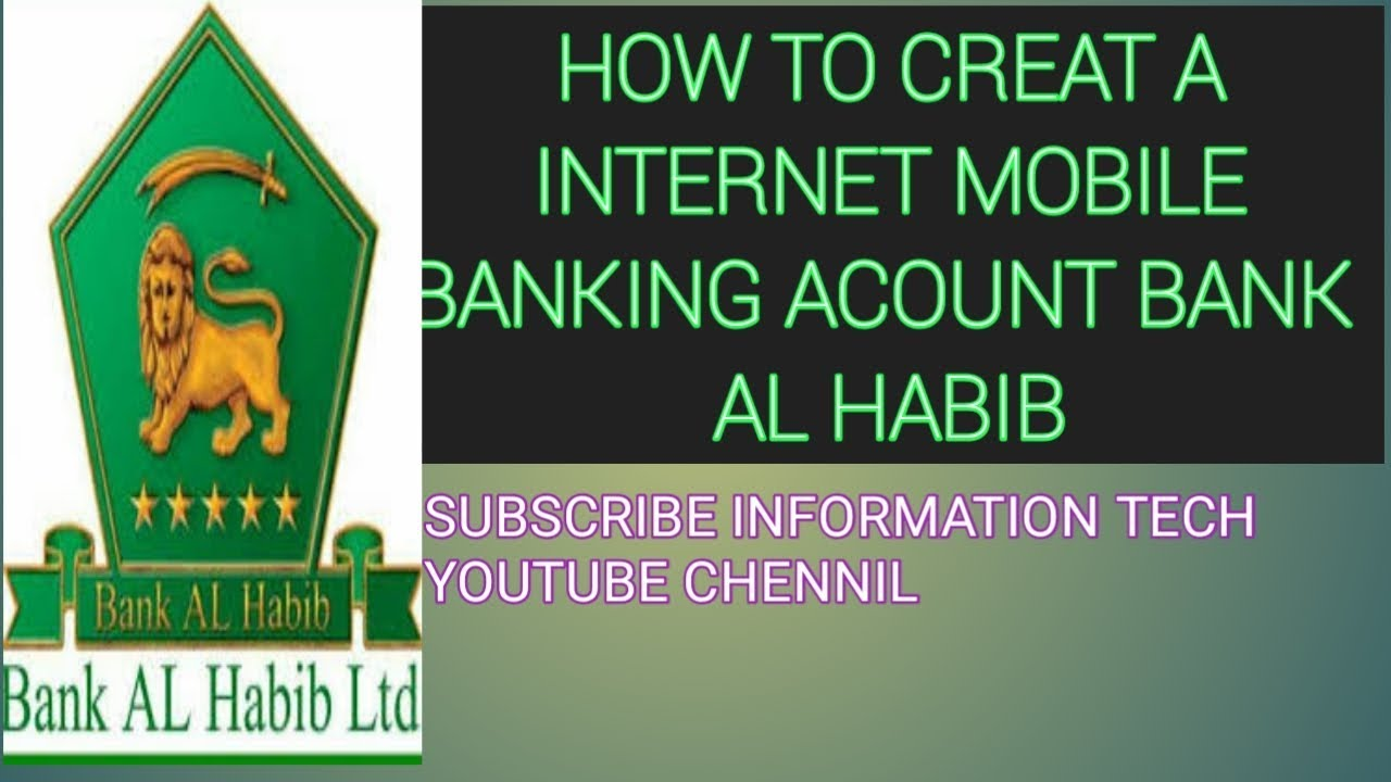 Online Banking Bank Alhabib Creat A Online Account Online Accoun Bank Alhabib Kasy Bnia Hassnaintech Youtube