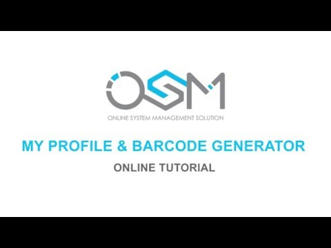 OSM Solution - My profile & barcode generator
