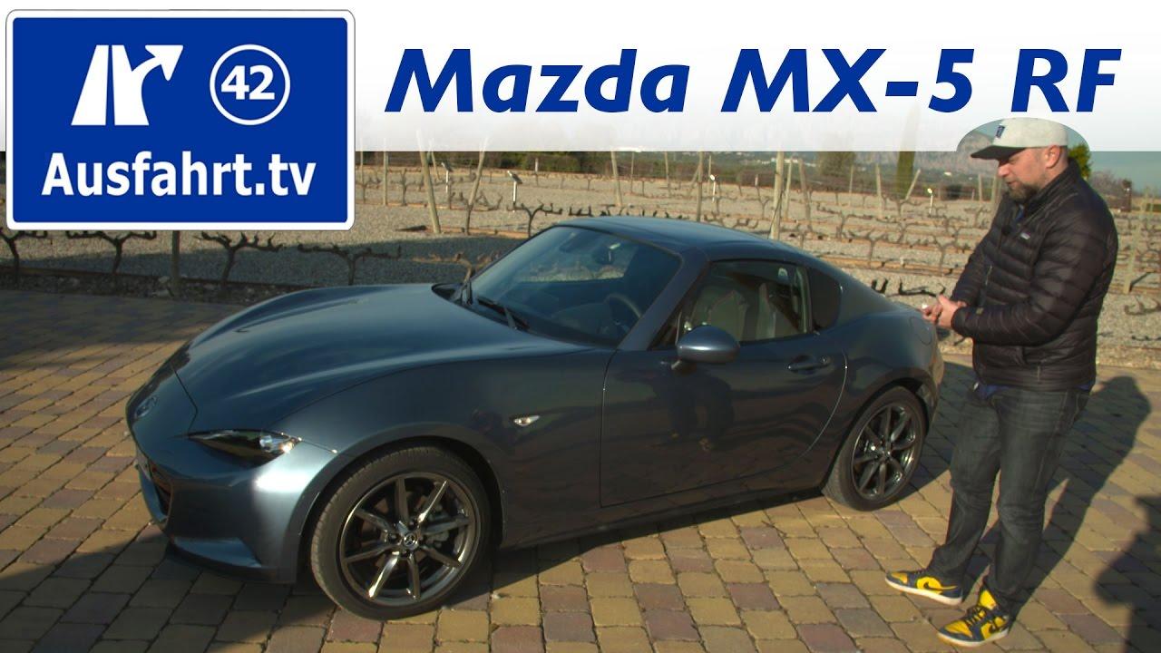 2017 mazda mx-5 rf fahrbericht der probefahrt test review - youtube