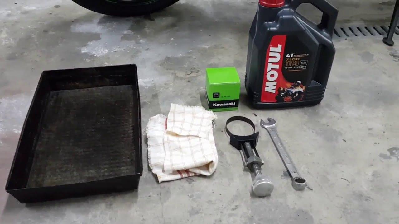 Wymiana oleju w Kawasaki Z900 ( Kawasaki Z900 oil change )