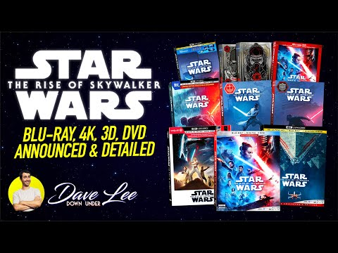 Star Wars The Rise Of Skywalker Blu Ray 4k 3d Dvd Announced Detailed Youtube