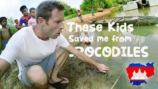 😲 The Kids That SAVED Me From CROCODILES - Cambodia Vlog 🇰🇭
