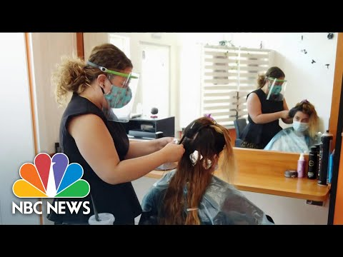 Americans Rush To Reschedule As The Country Reopens   NBC Nightly News