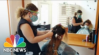 Americans Rush To Reschedule As The Country Reopens | NBC Nightly News