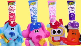Blue's Clues and You Bath Finger Paint with Magenta and Bubbles!