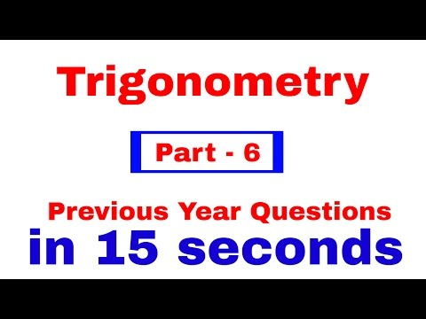 Trigonometry for SSC CGL | CHSL | CPO  [In Hindi] Part - 6