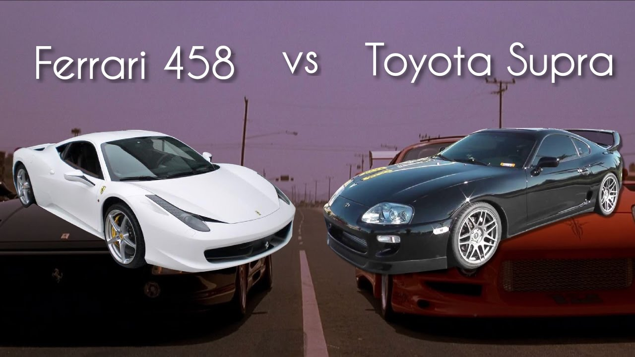 Ferrari Vs Toyota >> Toyota Supra Vs Ferrari Who Wins Youtube