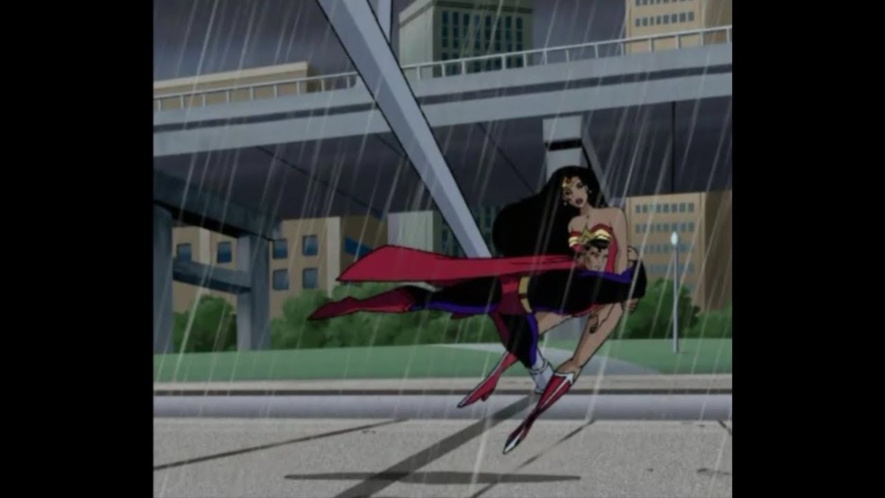 Superman salva Mulher Maravilha - Liga da Justiça