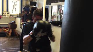 Black Flash Boxers in Camp preparing for Oct 31