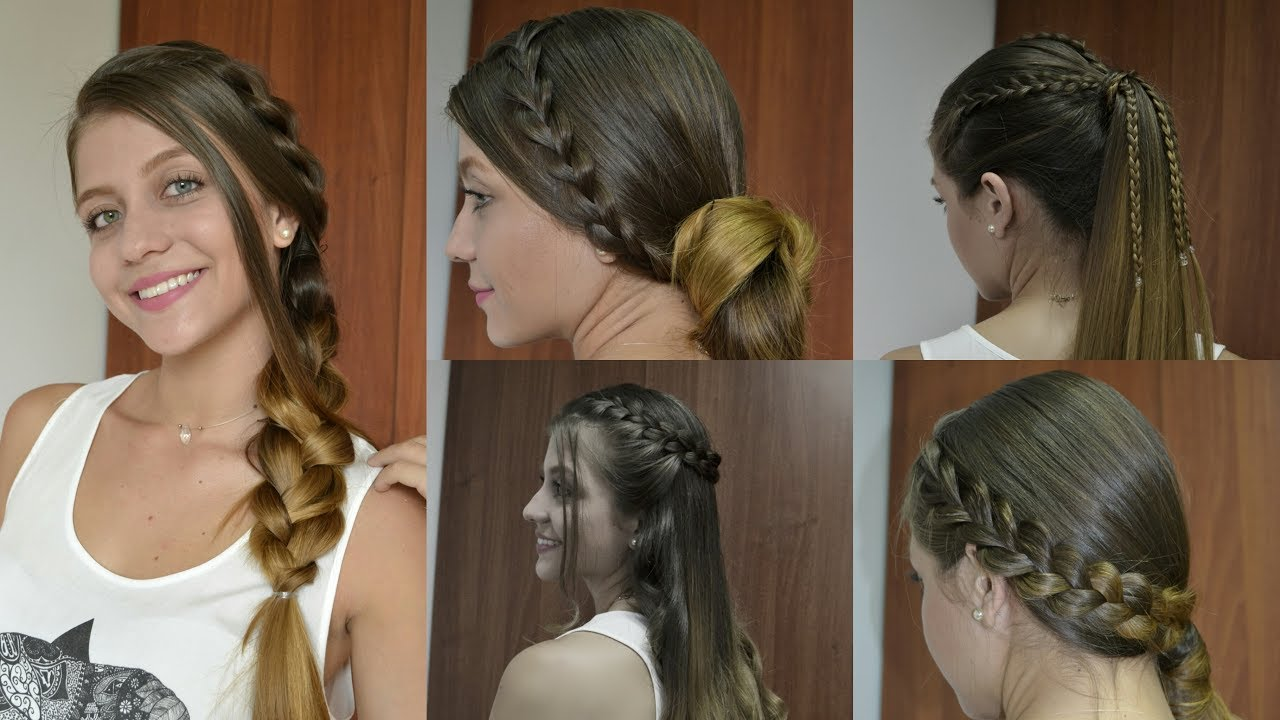 Fácil peinados para ir al colegio Imagen de cortes de pelo Ideas - Peinados con trenzas para ir al colegio - Cortes de pelo ...