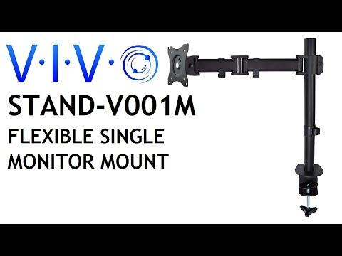 STAND-V001M Single Monitor Desk Mount by VIVO