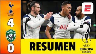 Tottenham 4-0 Ludogorets DOBLETE de Vinicius guía GOLEADA. Davinson Sánchez titular | Europa League
