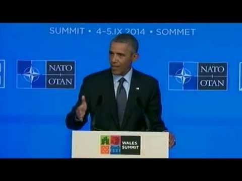 Obama speaks from NATO summit on ISIS