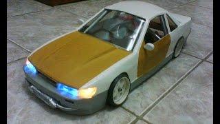 Paper craft nissan silvia S13 1/10 rc drift