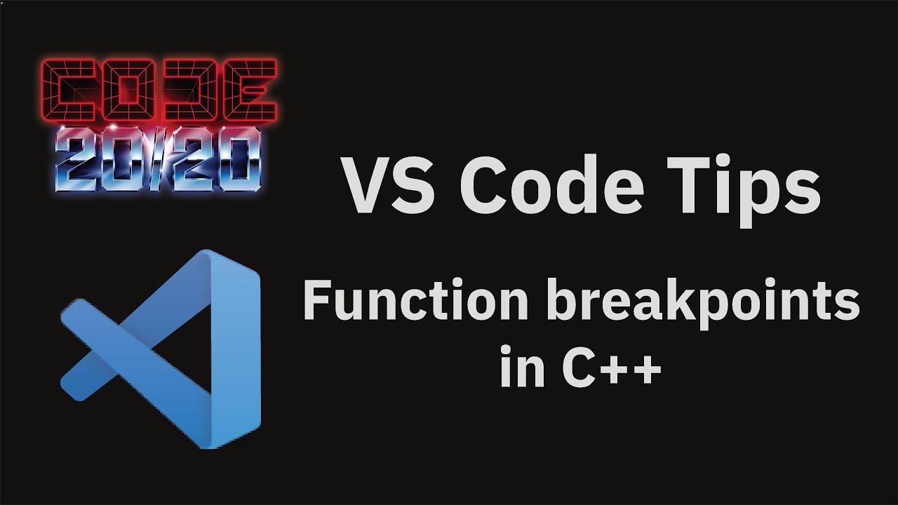 Function breakpoints in C++