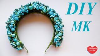Мастер класс Веночек из цветов / DIY . The wreath of flowers(Здравствуйте дорогие друзья сегодня мы сделаем веночек из искусственных цветов и тычинок на ободке . Мы..., 2016-03-31T17:49:12.000Z)