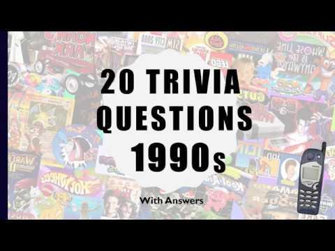 20 Trivia Questions (1990s)