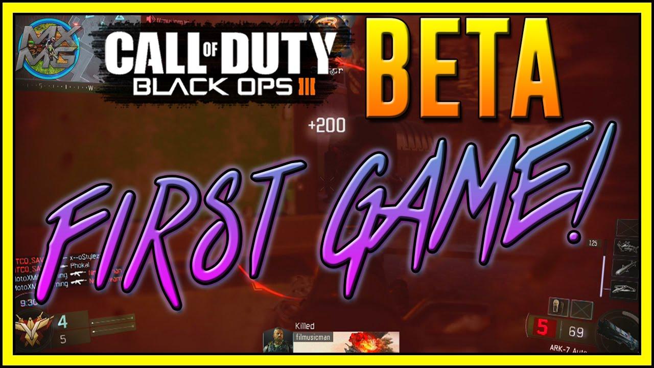 first game black ops 3 multiplayer beta gameplay youtube. Black Bedroom Furniture Sets. Home Design Ideas
