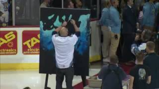 "Artist Joe Everson ""Paints"" the National Anthem MUST SEE!"