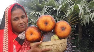 Traditional Taler Payesh Recipe Bengali Sweet Cooking Farm Fresh Palm Fruit Recipes Village Food