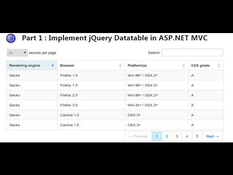Implement jQuery Datatable in ASP NET MVC application