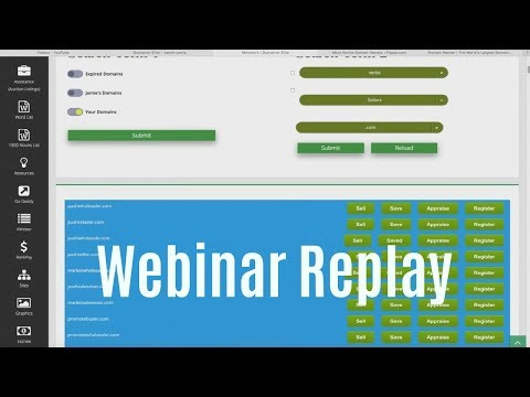 Domainer Elite PRO Review Webinar Replay - Domain Flipping Guide and Software