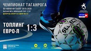 Чемпионат Таганрога по мини футболу 2019 20 Высшая лига Фин этап Топлинг Евро Л 1 3
