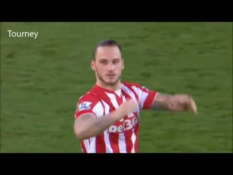 Marko Arnautović Best Goals & Skills - Stoke City - 2015/16 | HD