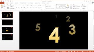 PowerPoint training How to Create a Countdown Timer and Image Slide Show on PowerPoint