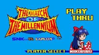 SNK vs. Capcom: Match of the Millennium - Nakoruru Playthrough