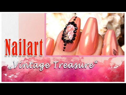 "Nailart: ""Vintage Treasure"" mit neuem LAVENIÉ Aurora Mirror Pigment – fire"