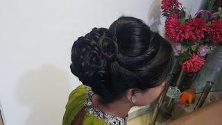 पार्टी के लिए जुड़ा हेयर स्टाइल कैसे बनाएं / New juda hairstyle for party or wedding / bun hairstyle