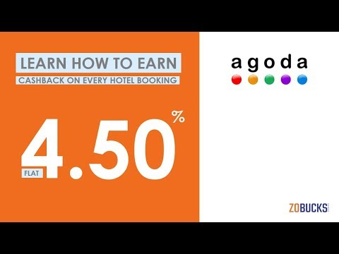 Earn FLAT 4.50% Cashback On All Bookings – Agoda Promo Code 2018