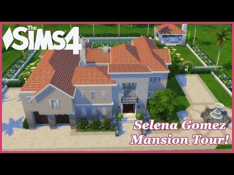 The Sims 4 - Selena Gomez Mansion! CC House Tour!