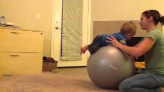How to play with your baby on an exercise ball