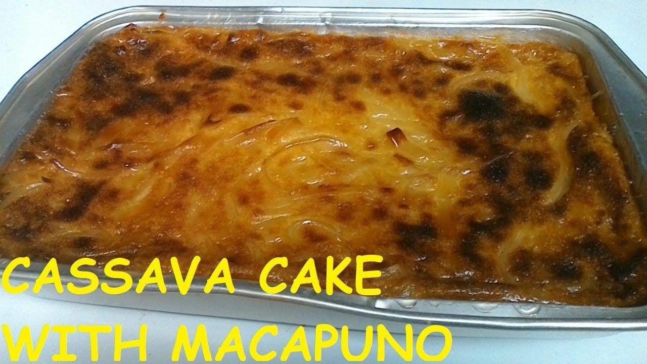 How to make Cassava Cake with Macapuno   Cassava Cake