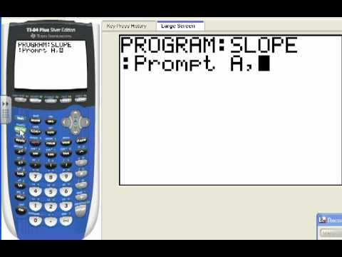 Lesson 2 2 Program For Slope On Ti 84 Youtube