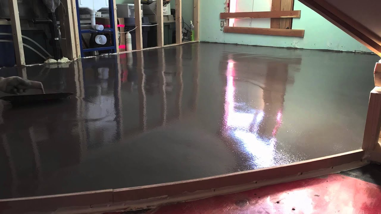 Polishable Self Leveling Concrete Overlay Youtube