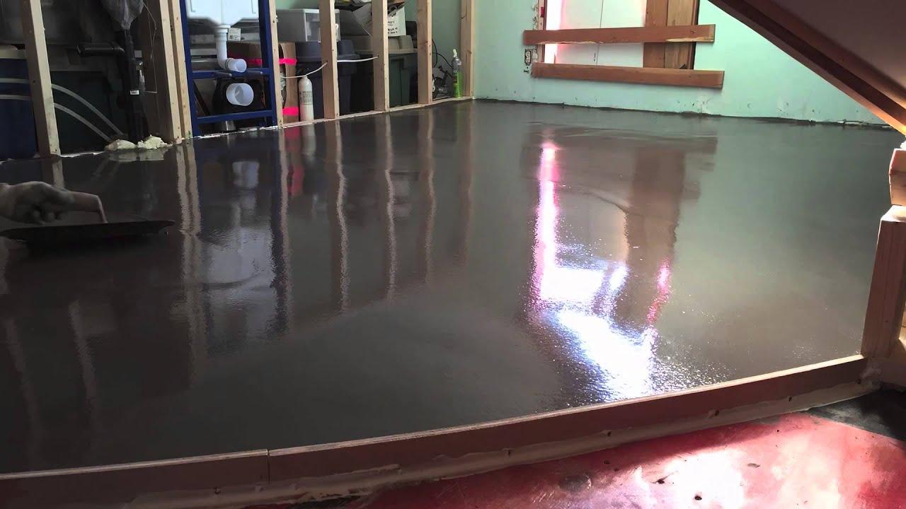 polishable self leveling concrete overlay  YouTube