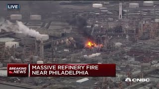 Massive explosion at biggest gas refinery in America, triggering fire