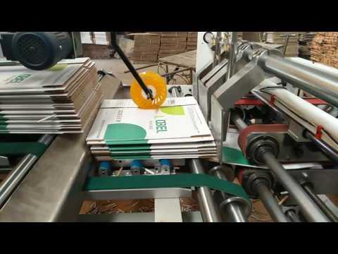 Corrugated carton box auto folder gluer machine