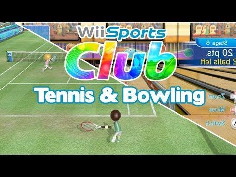 Wii Sports Club \ Gameplay - Tennis & Bowling | Nintendo Wii U スポーツ クラブ Wī Supōtsu Kurabu