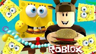 Roblox Adventures / EATEN ALIVE BY SPONGEBOB! / The Spongebob Adventure Obby